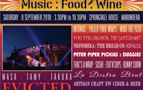 Next Event - Festival of Music : Food : Wine  - 8th September 2018